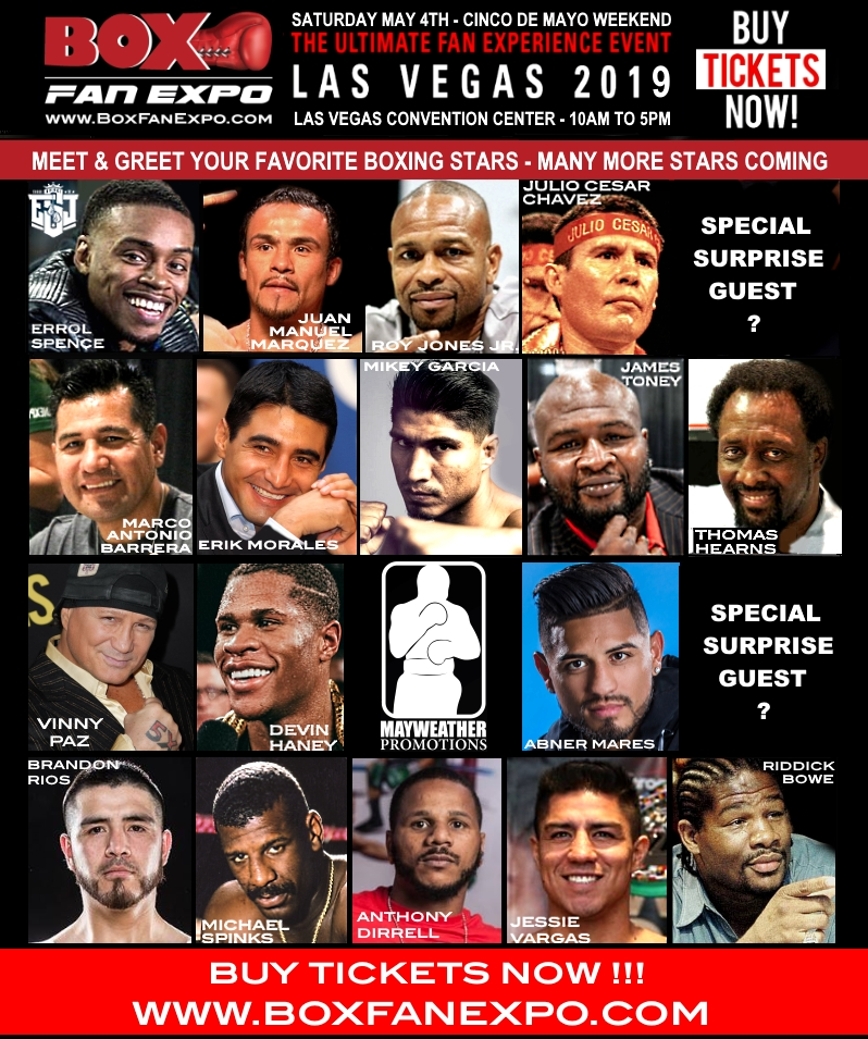 Sponsor Matchroom Boxing Usa: FIFTH ANNUAL BOX FAN EXPO TO HOST OVER 30 CHAMPION BOXERS